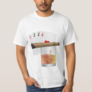 Four Aces, A Drink and A Cigar T-Shirt