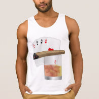 Four Aces, A Drink and A Cigar Tank Top