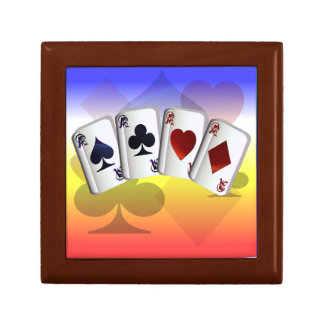Four Aces and Suit background Gift Box