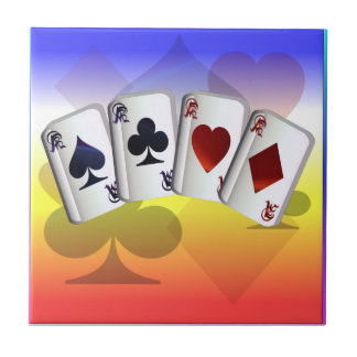 Four Aces and Suit background Tile