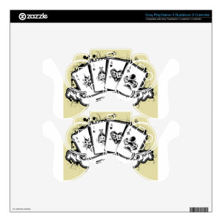 Four aces cards design decal for PS3 controller