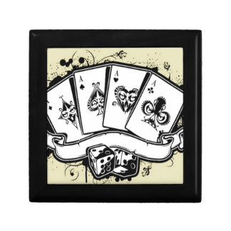 Four aces cards design jewelry box