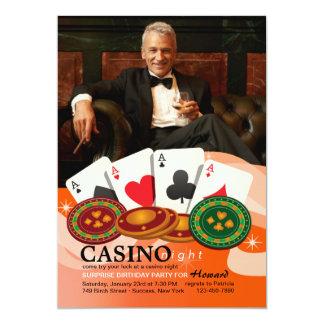 Four Aces Casino Night Photo Invitation