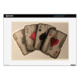 Four Aces Decal For Laptop