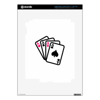 Four Aces Decals For iPad 3