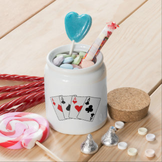 Four Aces (Four of a Kind) Poker Playing Cards Candy Jars