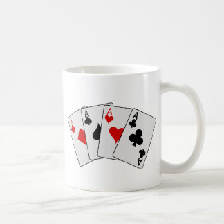 Four Aces (Four of a Kind) Poker Playing Cards Coffee Mug