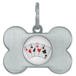 Four Aces (Four of a Kind) Poker Playing Cards Pet ID Tag