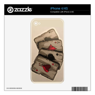 Four Aces iPhone 4 Skins