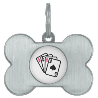 Four Aces Pet ID Tags