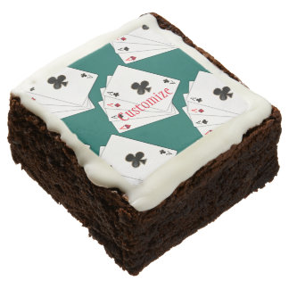 Four Aces Playing Cards Brownies