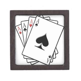 Four Aces Playing Cards Design Keepsake Box