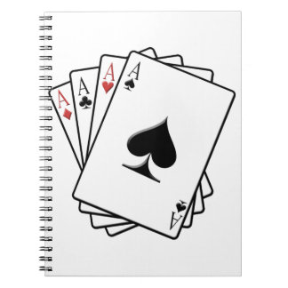 Four Aces Playing Cards Design Notebook