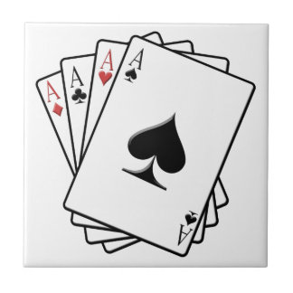 Four Aces Playing Cards Design Tile