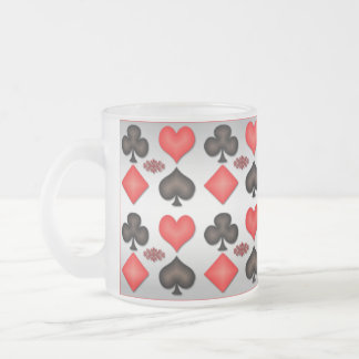 Four Aces Playing Cards Mug Silver Background