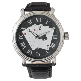 Four Aces Playing Cards Wrist Watch