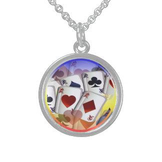 Four Aces (rain bow)  Necklace