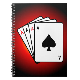 Four Aces! Spiral Notebook