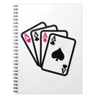 Four Aces Spiral Notebook