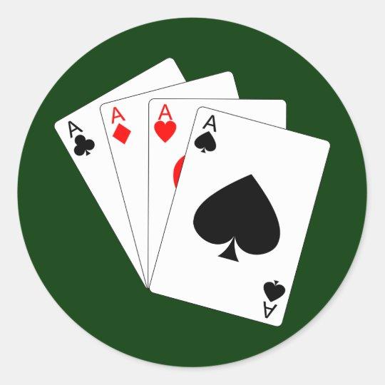 Four Aces Sticker