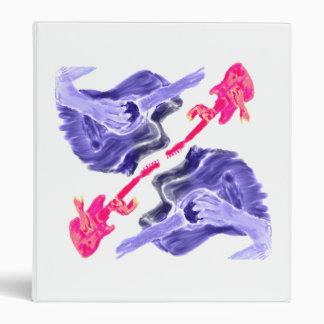 Four acoustic guitar design, pink and blue version binder