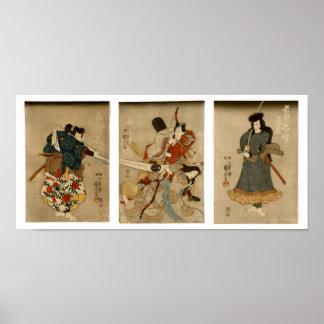 Four Actors, Utagawa Kuniyoshi 歌川国芳 Print