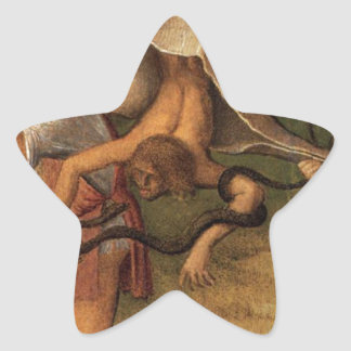 Four Allegories Falsehood (Wisdom Giovanni Bellini Star Sticker