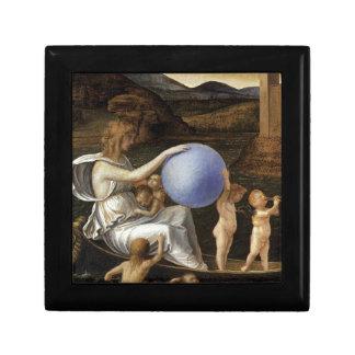 Four Allegories: Fortune by Giovanni Bellini Keepsake Box