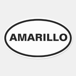 FOUR Amarillo, Texas Oval Stickers