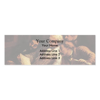 Four amateur of prints by Honore Daumier Business Card Templates