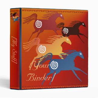 Four Ancient Horses binder_1_front.v4 Vinyl Binder