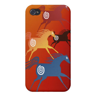 Four Ancient Horses for 4 iPhone 4 Cover