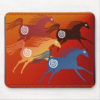 Four Ancient Horses_Mousepad Mouse Pad