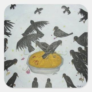 Four and Twenty Blackbirds Square Sticker