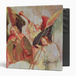 Four angels playing instruments binder