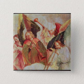 Four angels playing instruments button