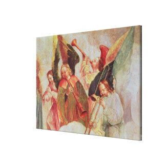 Four angels playing instruments canvas print