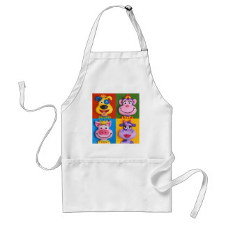 Four Animal Faces Apron