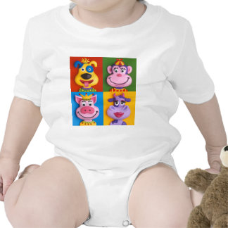 Four Animal Faces T-shirt