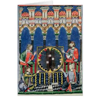 Four Arabic Backgammon Players Card
