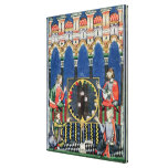 Four Arabic Backgammon Players Gallery Wrap Canvas