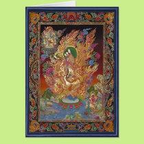 Four-Armed Ganesh Greeting Card