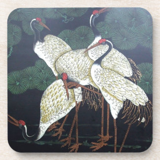 Four Artsy Cranes Coaster