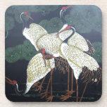 Four Artsy Cranes Drink Coaster