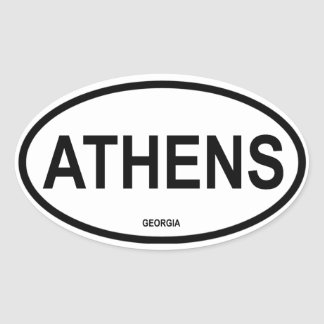 FOUR Athens, Georgia Oval Sticker