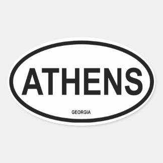 FOUR Athens, Georgia Oval Sticker