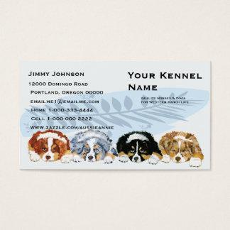 Four Australian Shepherd Puppies Business Card