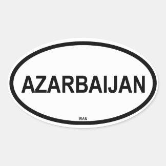 """FOUR """"Azarbaijan"""" Oval Sticker"""