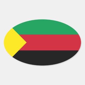 FOUR Azawad Flag Oval Sticker