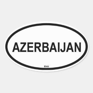 """FOUR """"Azerbaijan"""" Oval Sticker"""